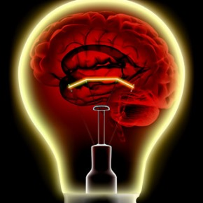 Brain Energy in a Light Bulb